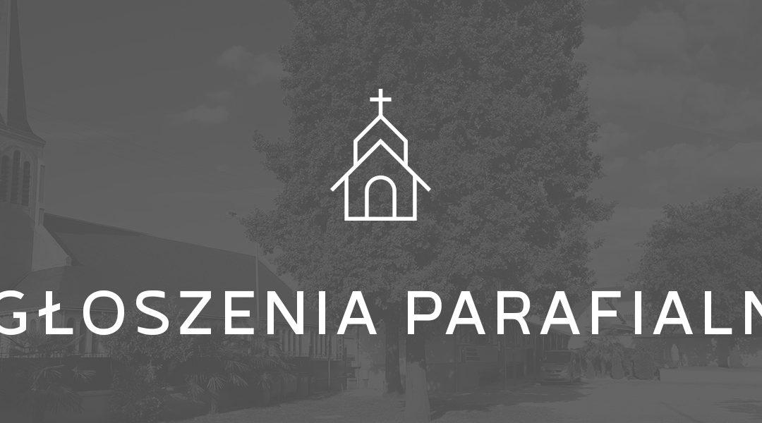 Ogłoszenia parafialne 31.05.2020