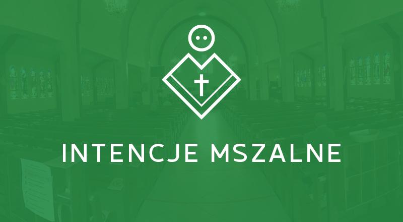 Intencje Mszy Świętych        15-22.11.2020