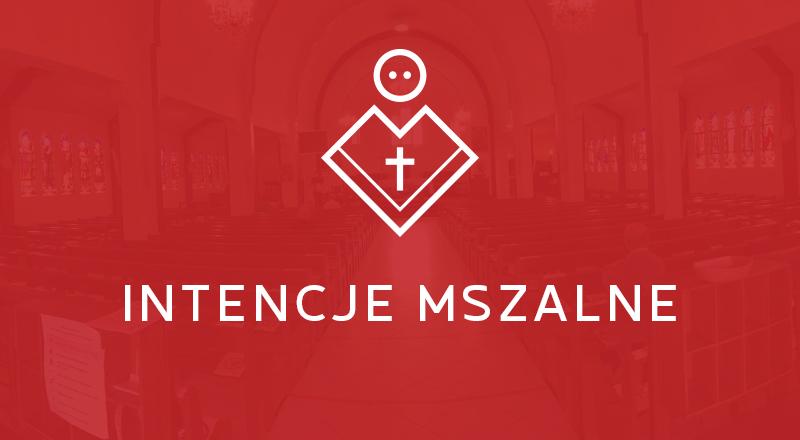 Intencje Mszy Świętych                                                                   23-30.05.2021
