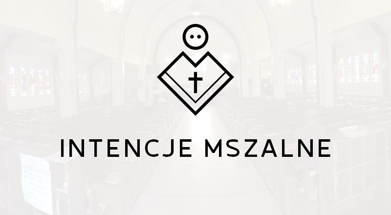 Intencje Mszy Świętych 25.10-1.11.2020