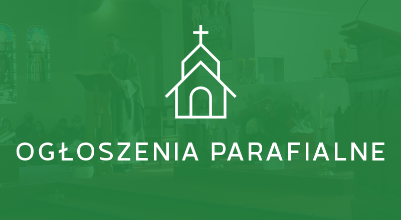Ogłoszenia parafialne 27.09.2020