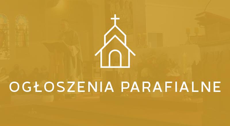 Ogłoszenia parafialne Wszystkich Świętych